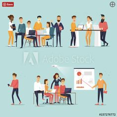 Business Characters Co Working People Meeting Stock Vector (Royalty Free) 649323682 Co Working, Working People, Special Promotion, Teamwork, New Pictures, Royalty Free Photos, Workplace, Marketing, Digital