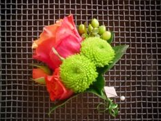 Bright buttonhole for the boys.