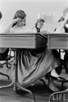 Skirts and sweaters and dresses were what we wore every day!.  Walter Sanders - Wilmington High School, undated.