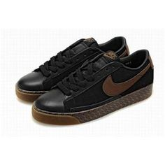 Nike Blazer Low Shoes Black Brown