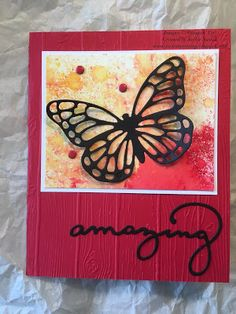 JackOtterStamp: Amazing Butterfly Thinlits Brusho Card