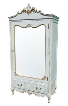 Elenore French Aquitaine Blue Armoire - Chic Boutique Interiors - Lighting , furniture, chandeliers http://www.chicboutiqueinteriors.co.uk
