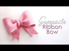 Gumpaste / Fondant Ribbon Bow Tutorial for Cakes - YouTube