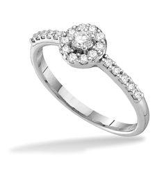 1/3 ctw Diamond Ring in White 14 K Gold