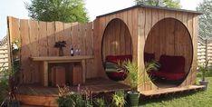 Choosing a shed – Outpost Pod – Garden Project Backyard Retreat, Backyard Patio, Backyard Landscaping, Outdoor Sheds, Outdoor Gardens, Garden Pods, Diy Shed Plans, Garden Office, Garden Structures