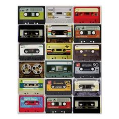 80s cassette tapes