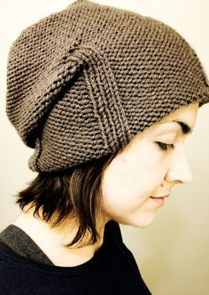 Free Knitting Pattern for Kami Slouchy Hat - Easy slouchy beanie is a quick project that takes one skein of the recommned yarn. Designed by by Katie Schumm. Pictured project by cerebralneedles