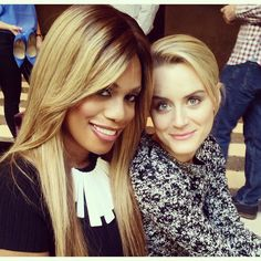 Orange is the New Black - Laverne Cox and Taylor Schilling
