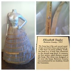 Elizabeth Taylor's hoop skirt from Raintree County hanging out at the office today!   #elizabethtaylor   #happybirthday