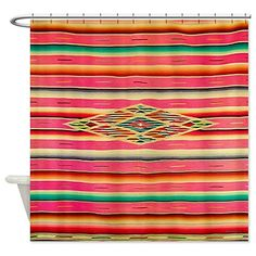 cafepress vintage pink mexican serape shower curtain st https