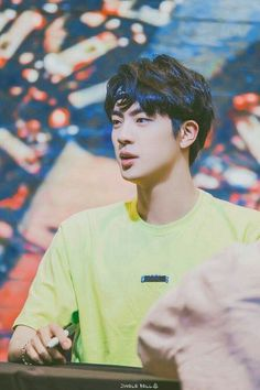 Jin Kim Seokjin's beauty is out of this world. No arguments could accepted Seokjin, Namjoon, Taehyung, Jung Hoseok, Park Ji Min, Bts Boys, Bts Bangtan Boy, Btob, Boy Scouts