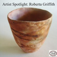 #ArtistSpotlight: Roberta Griffith. Roberta Griffith is best known for small and large ceramic installations, both thrown and hand built ceramic sculptures fired at both low and high temperatures. The latter are made in series, many based on variations of a form incorporating wheel thrown shapes, hand formed bisque molds, or plaster press molds. #Pottery #Ceramics #AmericanCeramics #RobertaGriffith