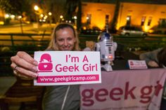 In yo face...#ImAGeekGirl with Yoga Geek @kaiteetyner @MarchMingle! Thanks to @Kevin Moussa-Mann Baird for photos!