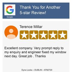 Auto Locksmith, Online Reviews, Dublin, Prompts, Engineering, Thankful, Star, Reading, Claire
