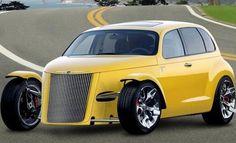 PT ROD My Dream Car, Dream Cars, Carros Retro, Cruiser Car, Chrysler Crossfire, Car Man Cave, Woody Wagon, Chrysler Pt Cruiser, Yellow Car