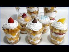 El pastel mas fácil de hacer, PASTEL EN VASO, para negocio o fiestas, Receta 454 - YouTube Cake Preparation, Mini Cheesecakes, Partys, Bake Sale, Dessert Table, Parfait, Pudding, Favorite Recipes, Treats