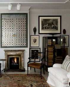 Wall art, vintage living room