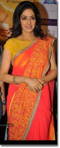 Manish Malhotra Sarees - Fashion Week - Sridevi