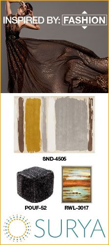 Surya rug and accessory package inspired by fashion #inspiredbysurya