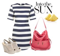What to Wear: Sunny Day by brynn-capella on Polyvore featuring Topshop, Chinese Laundry, and Brynn Capella. #Pink #stripes #LoveIt #lasercut