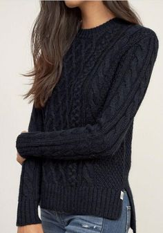 Black Plain Geometric Diamond Round Neck Casual Pullover Sweater