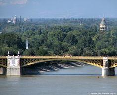 Margaret bridge over the Danube and  Margaret island
