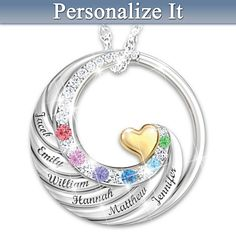 Family Circle Of Love Personalized Pendant Necklace