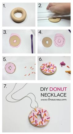 Michaels Makers Lines Across: DIY Polymer Clay Donut Necklace