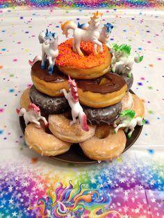 Harlie's unicorn donut cake