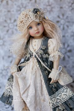 Clothes for Little Darling Outfit for doll Dress with lace Boho dress Dianna Effner Dress for doll Clothes for dolls Doll Patterns, Clothing Patterns, Boho Dress, Lace Dress, Countryside Girl, Princes Dress, Knit Stockings, Ag Doll Clothes, Felt Dolls