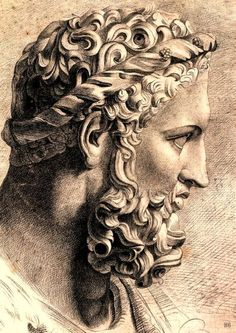 Hercules, drawing after the antique, artist unknown