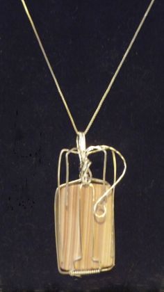 Striped Imperial Jasper Sterling Silver Wire Wrapped Pendant, Esther Destiny7 (Ann's Jewelry Collection) #teamwwes