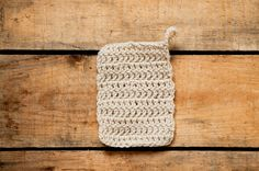 tawashi à tricoter avec ficelle