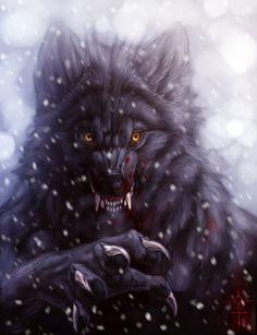Lycan Werewolf Art | Winter Werewolf by Anuwolf