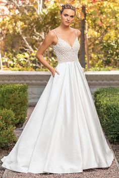 6d286140ad3 Style 2347 Arielle Candlelight Silver. Bridal Wedding DressesDesigner ...