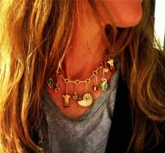 """Aurélie Bidermann """"Full charms"""" necklace from the Fine Jewelry line !"""