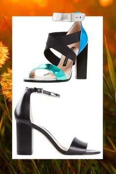 Color Block Strappy Sandal, FRENCH CONNECTION (Available at Bloomingdales), $145; Black Ankle Strap Sandal, MICHAEL MICHAEL KORS (Available at Farfetch), $138   - Cosmopolitan.com