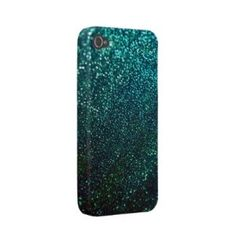Blue/Green Glitter iPhone Cover Iphone 4 Case