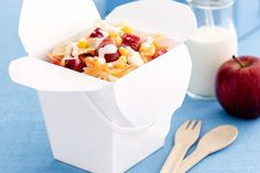 This quick and easy pasta salad is a perfect lunch box filler.