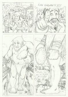 M.REDONDO- Comics: * Página a lápiz del Gigante-Curso Academia de Comic 2014