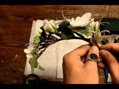 Флористика мастер класс: свадебный или праздничный венок из цветов своими руками (уроки флористики). - YouTube