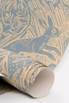 Mark Hearld's Harvest Hare wallpaper