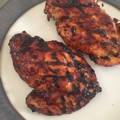 Grilled chicken with a homemade balsamic BBQ sauce. Sweet, tangy, and delicious!