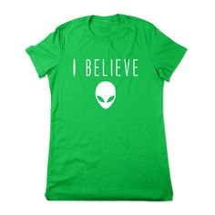 Funny Alien Shirt Supernatural Alien T Shirt I Believe Funny Shirt... ($16) ❤ liked on Polyvore featuring tops, t-shirts, black, women's clothing, graphic tees, cotton tee, black tee, crew-neck shirts and galaxy t shirt