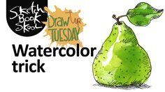 Draw Tip Tuesday: Watercolor trick