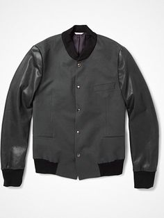 2012.05.07. Exclusive collaboration: Paul Smith for MRPORTER.COM Cotton-Twill/Leather Varsity Jacket.