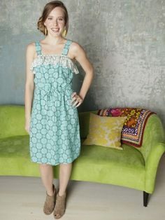 Mata Traders - Ruffle dress  Handmade in India and Nepal by women's cooperatives and artisan groups that practice fair trade principles.