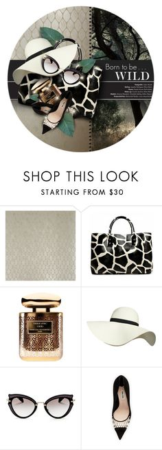 """""""Wild elegance"""" by kseniz13 ❤ liked on Polyvore featuring Nina Campbell, 19th Street, By Terry, Pilot, Miu Miu, hat, sunglasses, wild, accessories and animalprint"""
