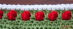 This edging or border pattern can be made with any weight yarn and the corresponding hook! It's a great way to finish off after the Tight Braid Join or other similar afghan square joins, or you can use the included set up row to use it on any blanket or project!