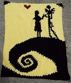 Nightmare Before Christmas Crochet Pattern Afghan Graph